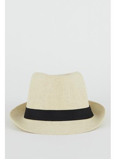 DeFacto Şerit Detaylı Hasır Şapka Bej